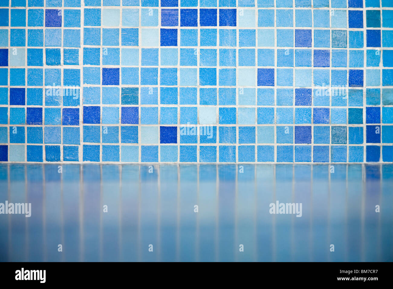 Detail of blue tiles - Stock Image