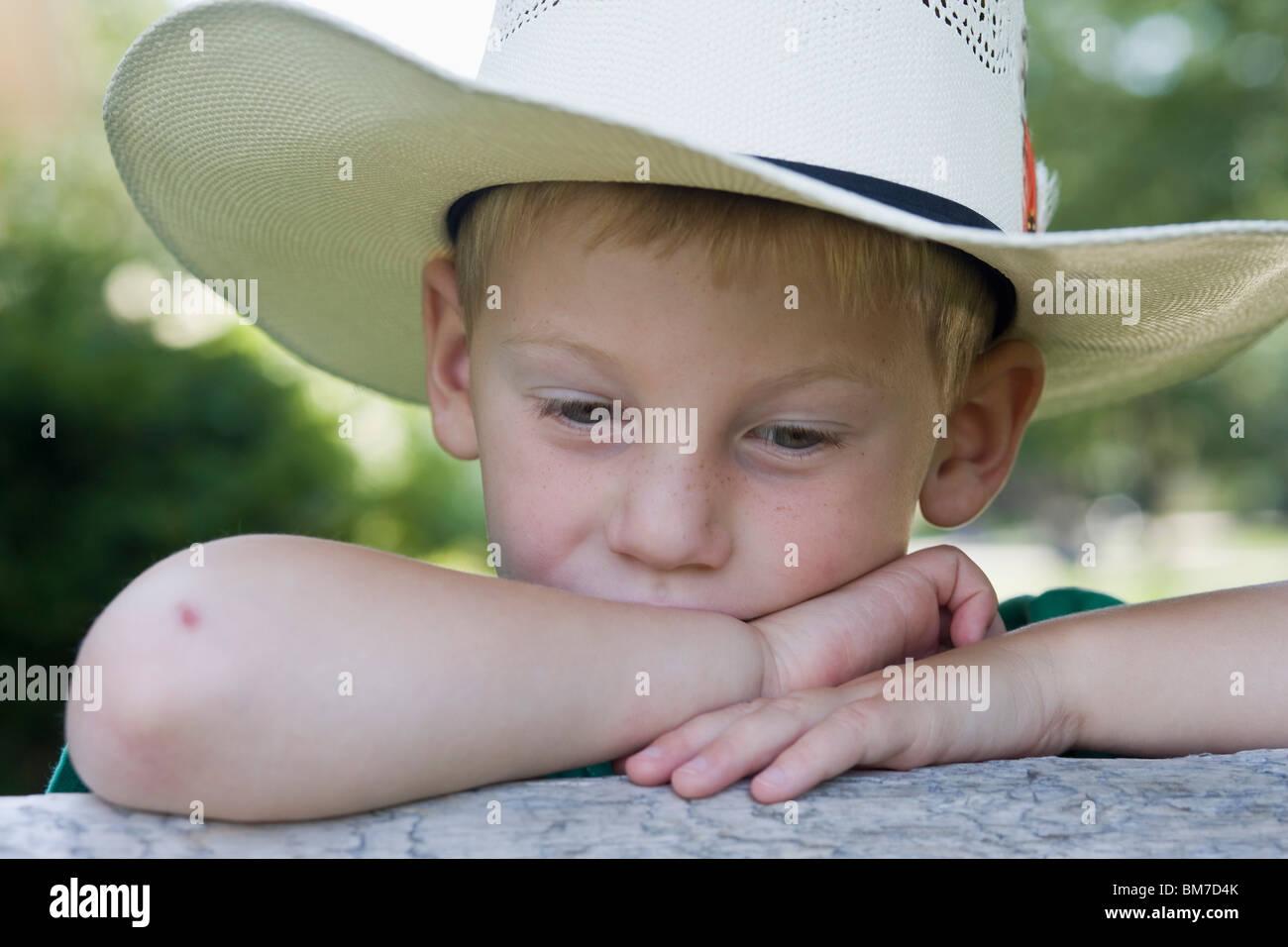 c27116ddb0087 Wearing A Cowboy Hat Stock Photos   Wearing A Cowboy Hat Stock ...