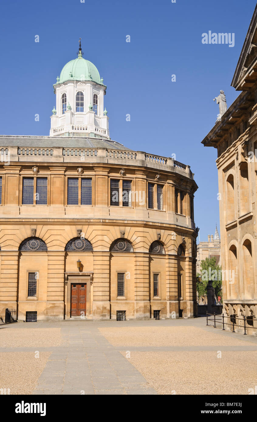 Sheldonian theatre and Clarendon Building University of Oxford  England UK Stock Photo