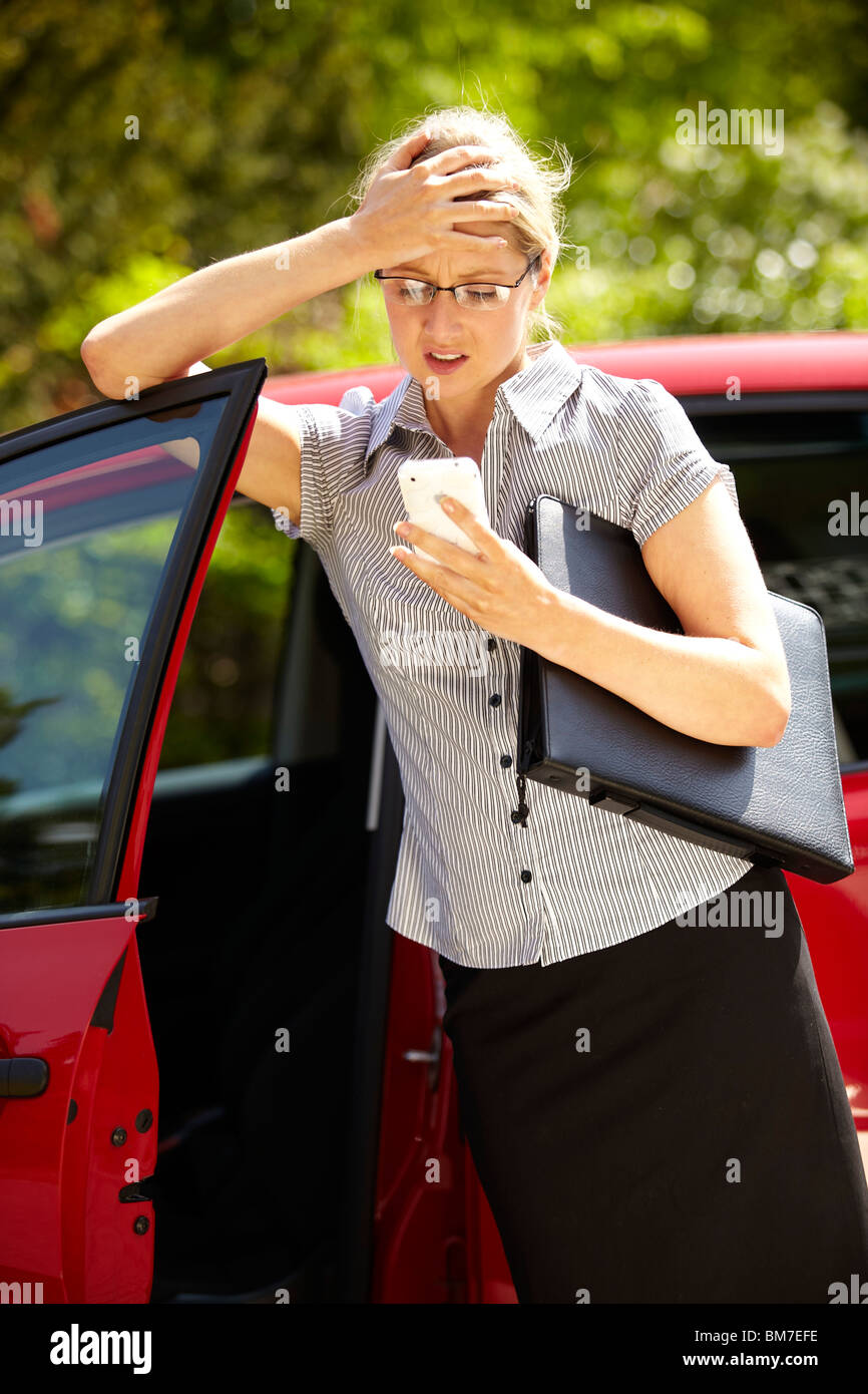 Stressed woman - Stock Image