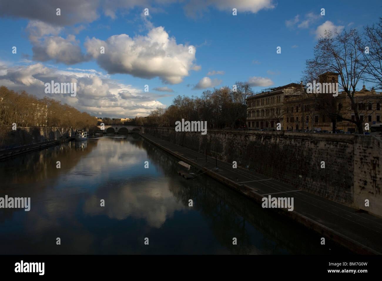 Rome's Tiber River, March 9, 2008. Photo/Chico Sanchez Stock Photo