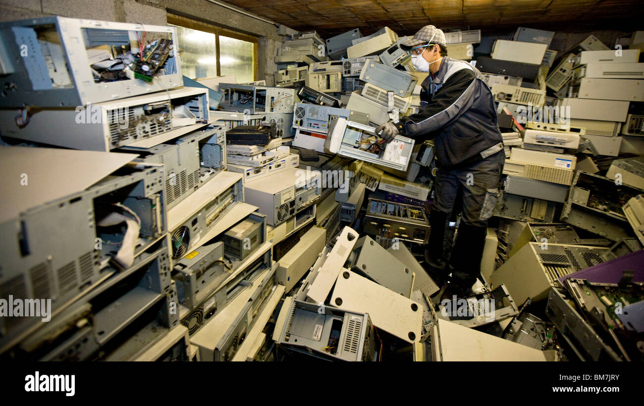 Somergie waste processing plant in Metz (57) - Stock Image