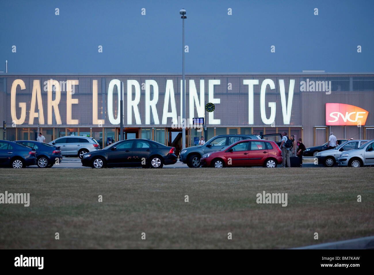 Lorraine TGV (high speed train) railway station - Stock Image