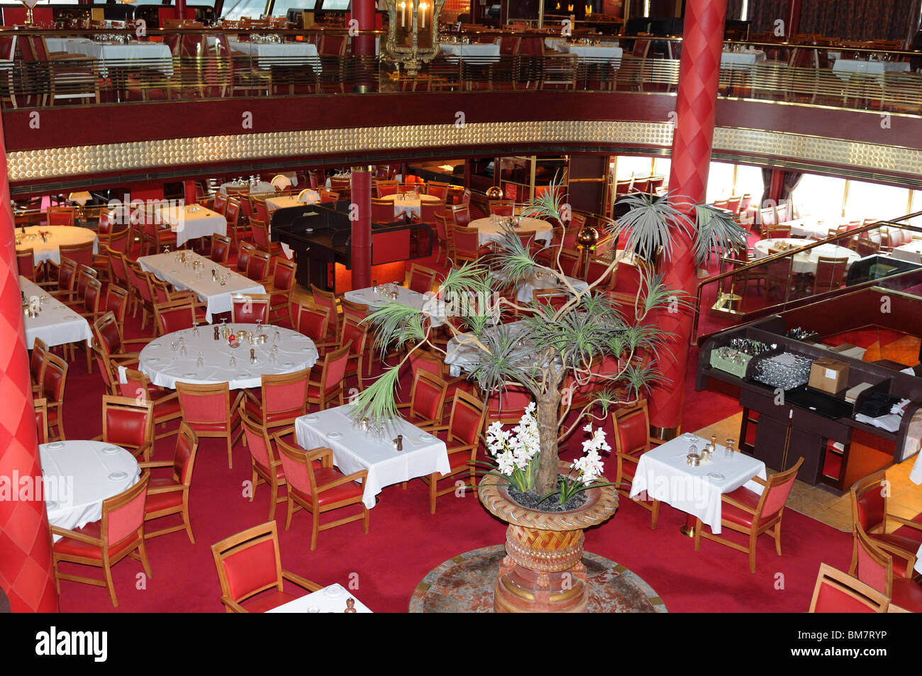 The Rotterdam Restaurant Aboard Holland America Lines Veendam May