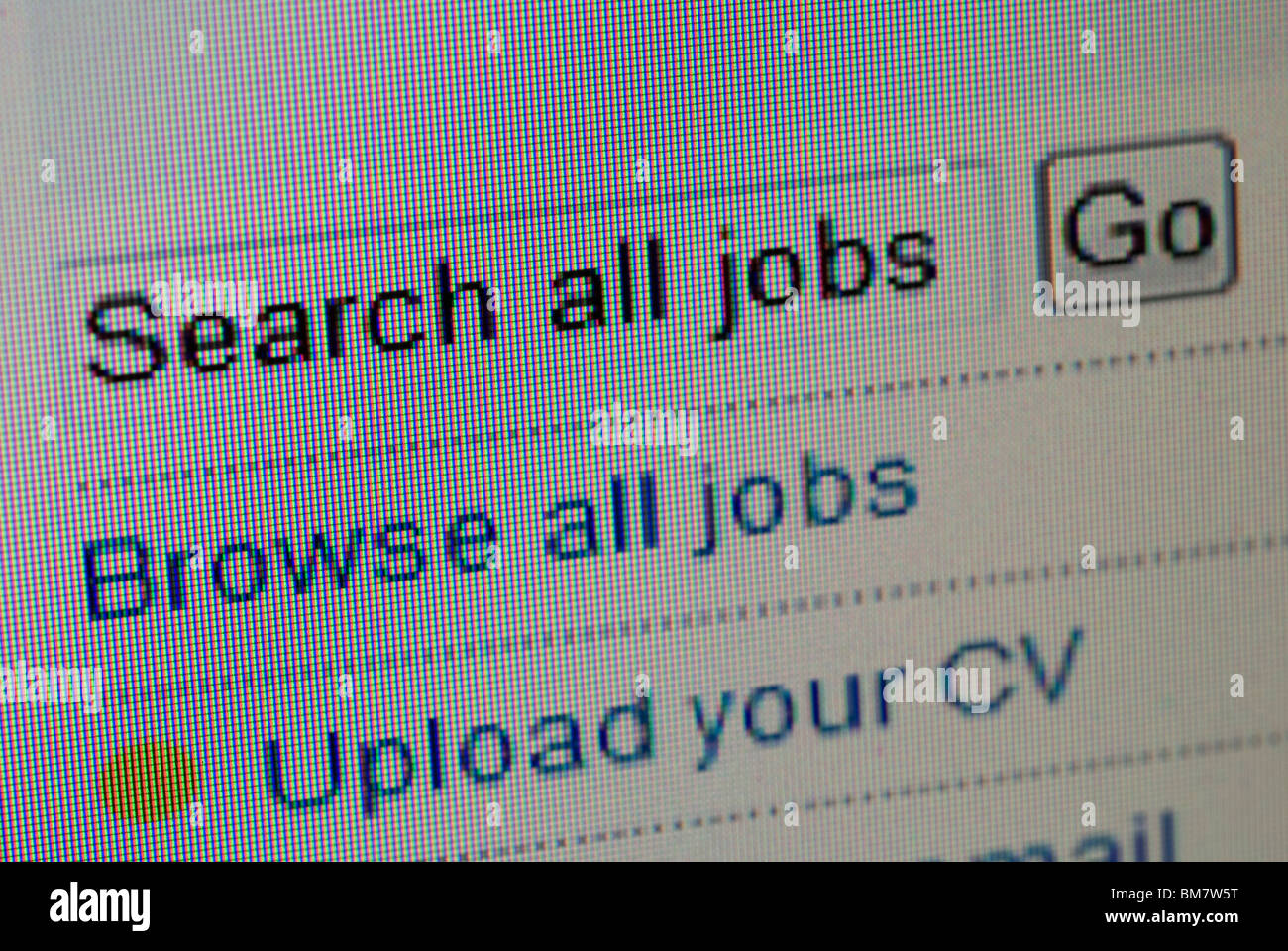 job search online - Stock Image