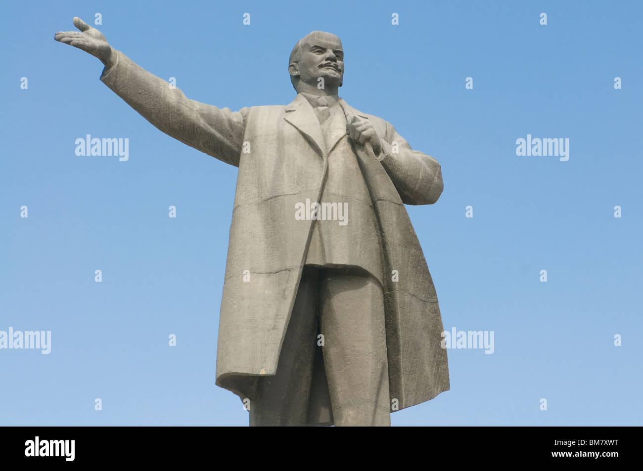 Statue of Lenin, Osh, Kyrgyzstan Stock Photo