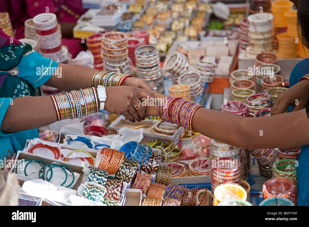Bangles shop. Jodhpur. rajasthan. India - Stock Image