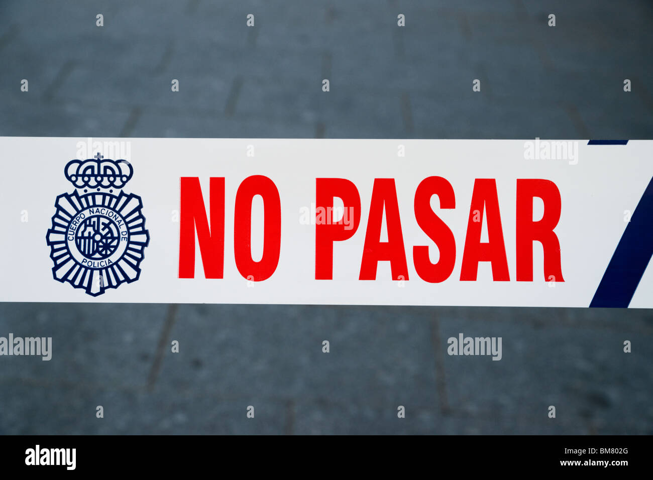 'No pasar' sign - Stock Image