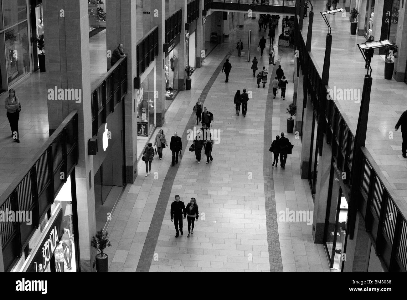 shopping mall in Cambridge - Stock Image