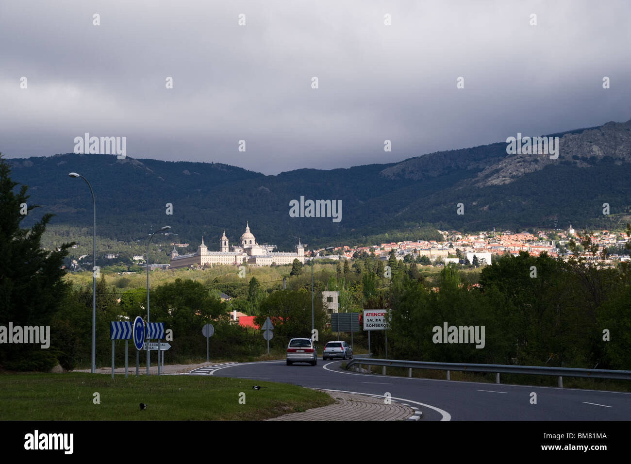 El Escorial - monastery and historical residence of kings of Spain - Stock Image