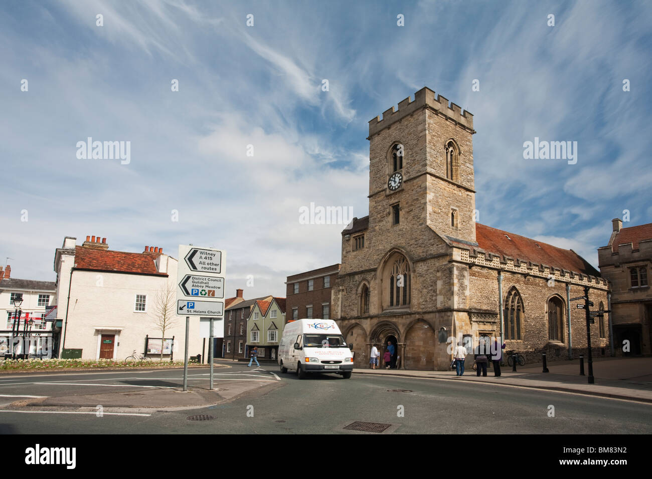 St Nicholas' Church in Abingdon town centre, Oxfordshire, Uk - Stock Image