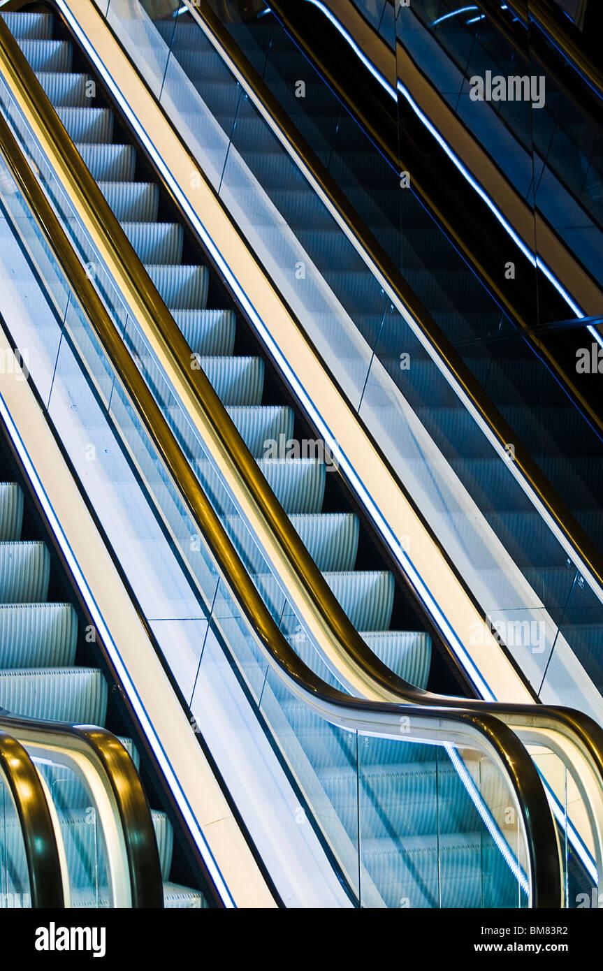 Escalator - Stock Image