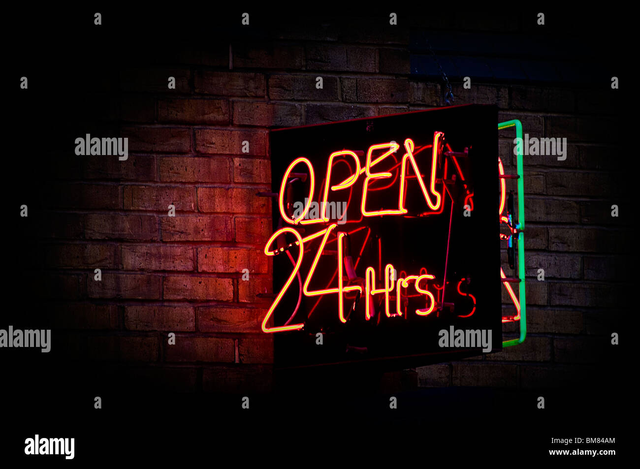 open 24 hours - Stock Image