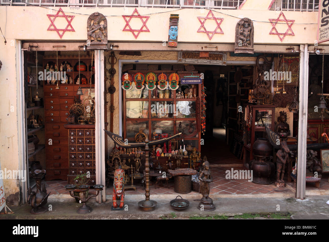 An Antique Shop In Showing The Star Of David Above The Shop In