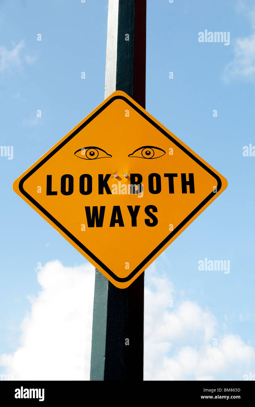 Street warning sign, Orlando, Florida - Stock Image