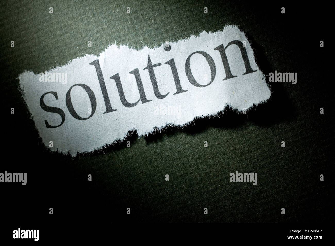 Headline Solution, concept of Solution - Stock Image