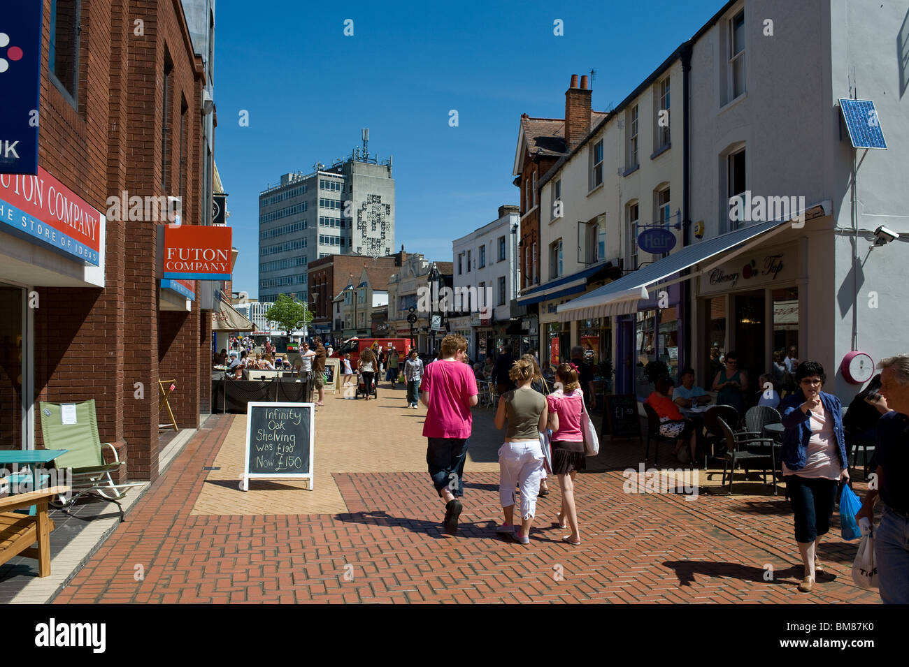 People walking in Chelmsford Town centre in Essex. - Stock Image