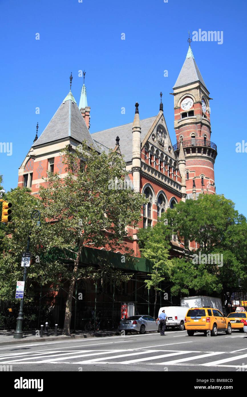 Jefferson Market Library, Greenwich Village, West Village, Manhattan, New York City, USA - Stock Image