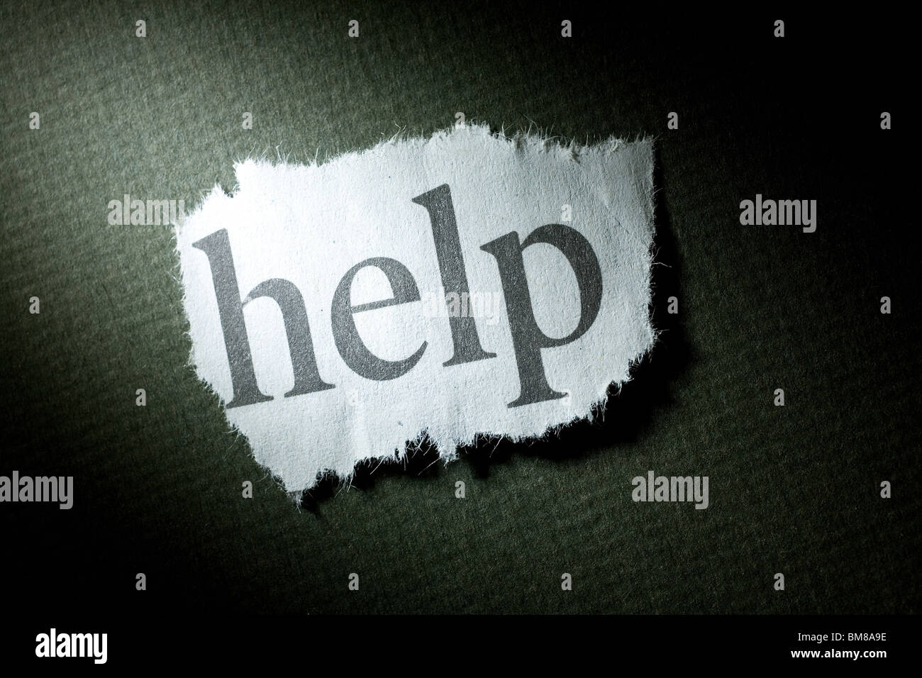 Headline Help, concept of Help - Stock Image