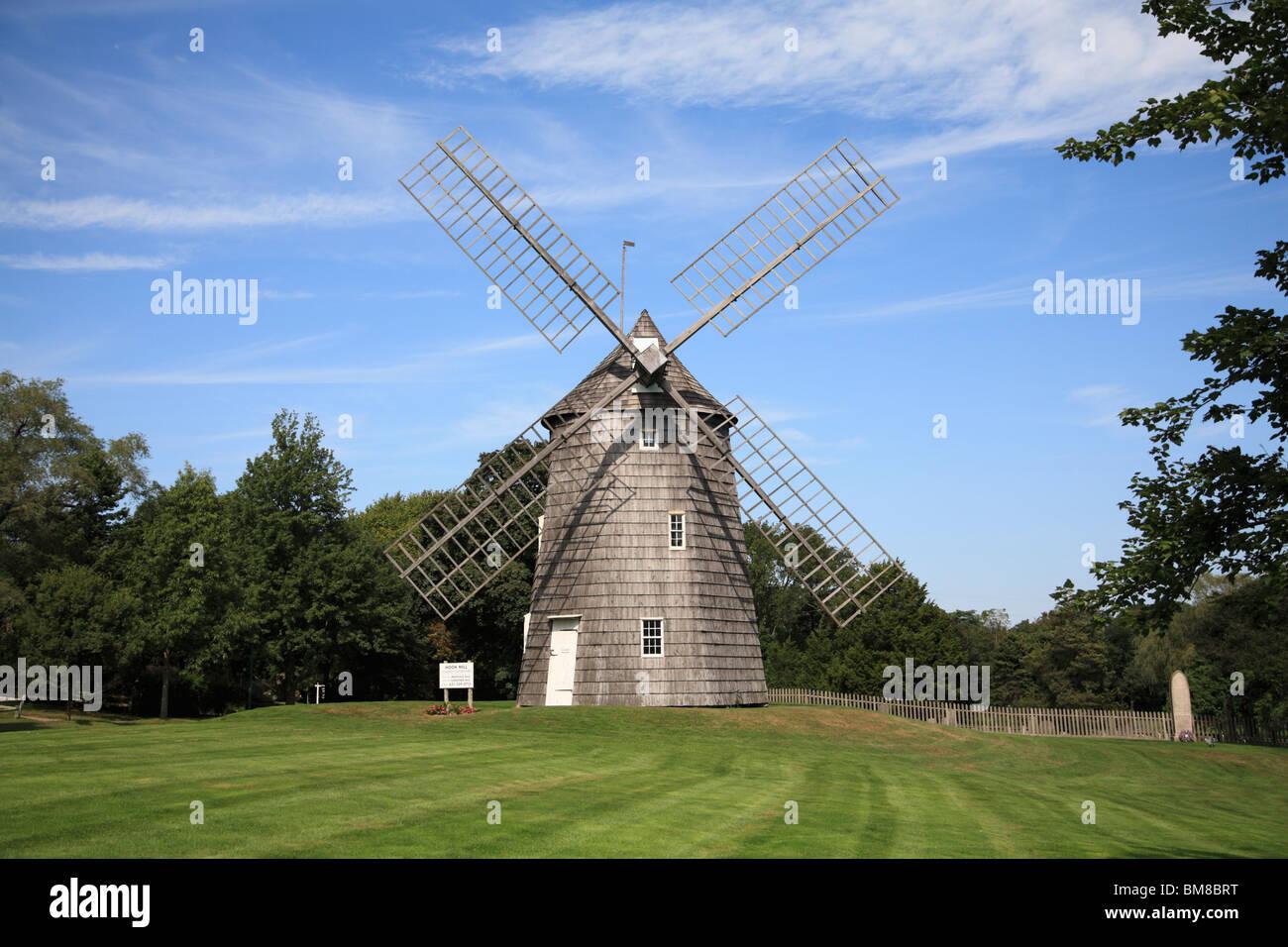 Old Hook Windmill, East Hampton, The Hamptons, Long Island, New York, USA - Stock Image