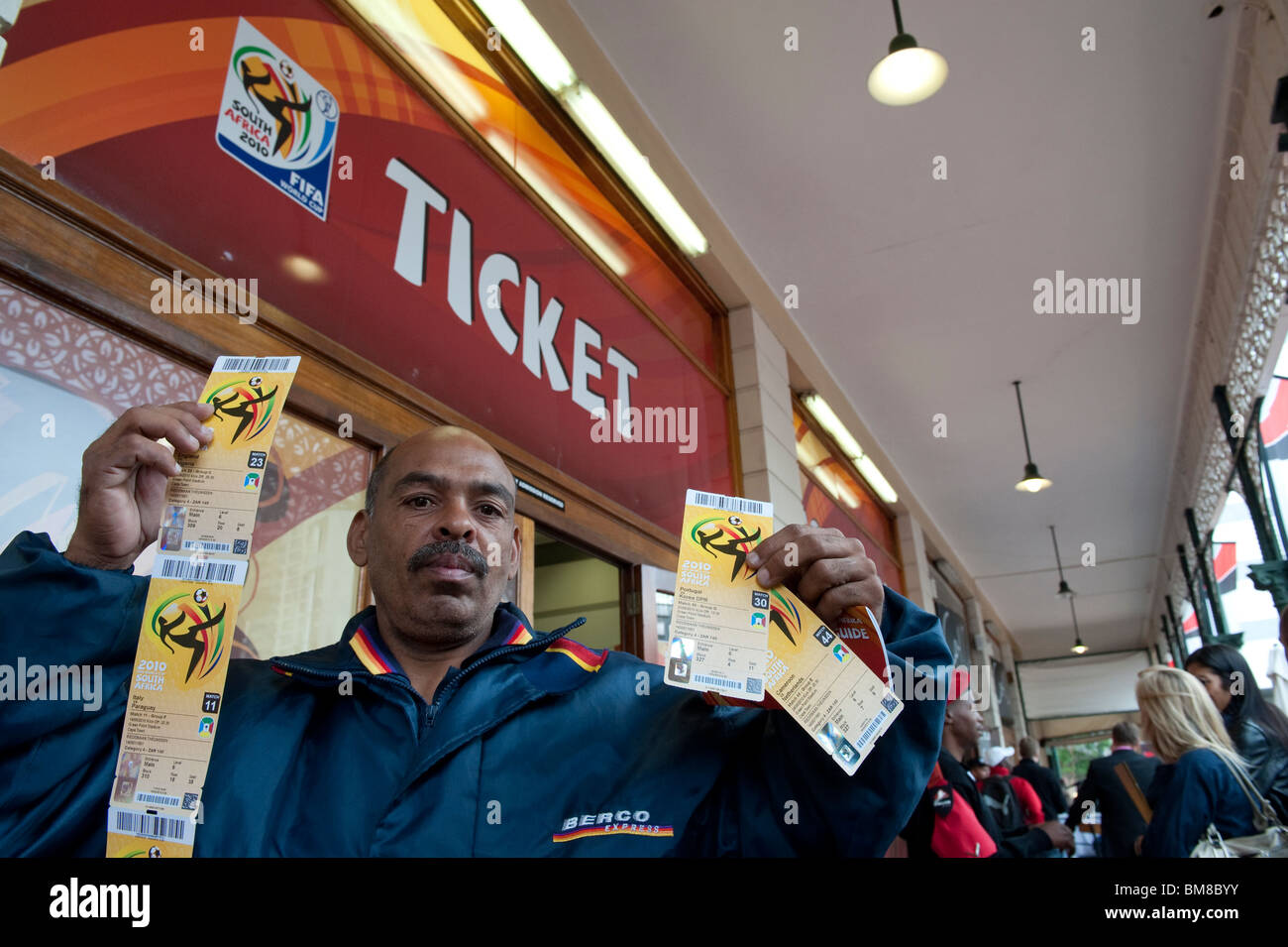 9587d8008 Football Fans waiting to buy tickets for the 2010 FIFA World Cup in South  Africa -