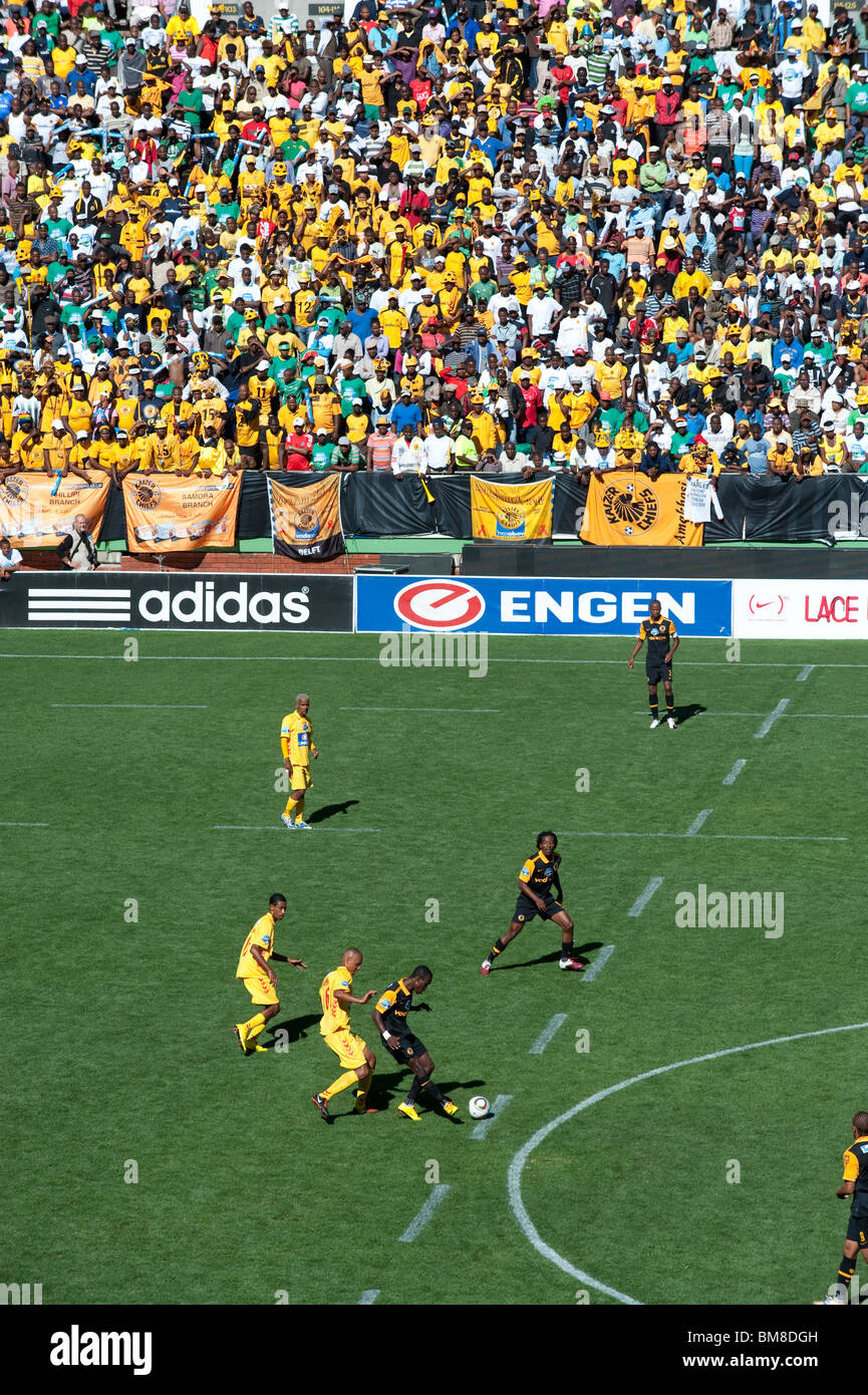 South African football match and supporters Cape Town South Africa - Stock Image