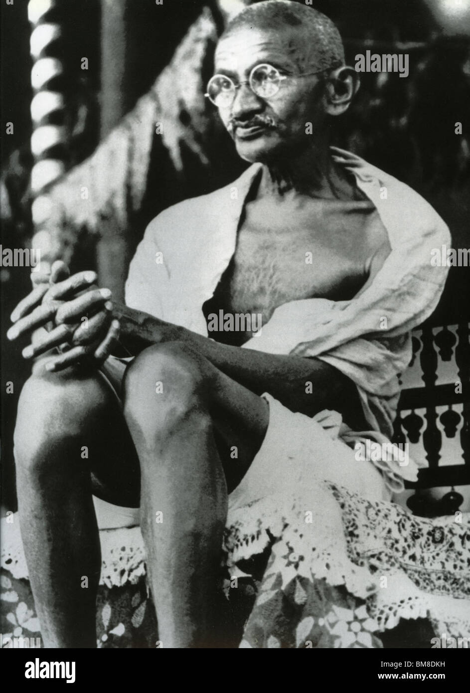 MOHANDAS MAHATMA GANDHI - Indian leader (1869-1948) - Stock Image