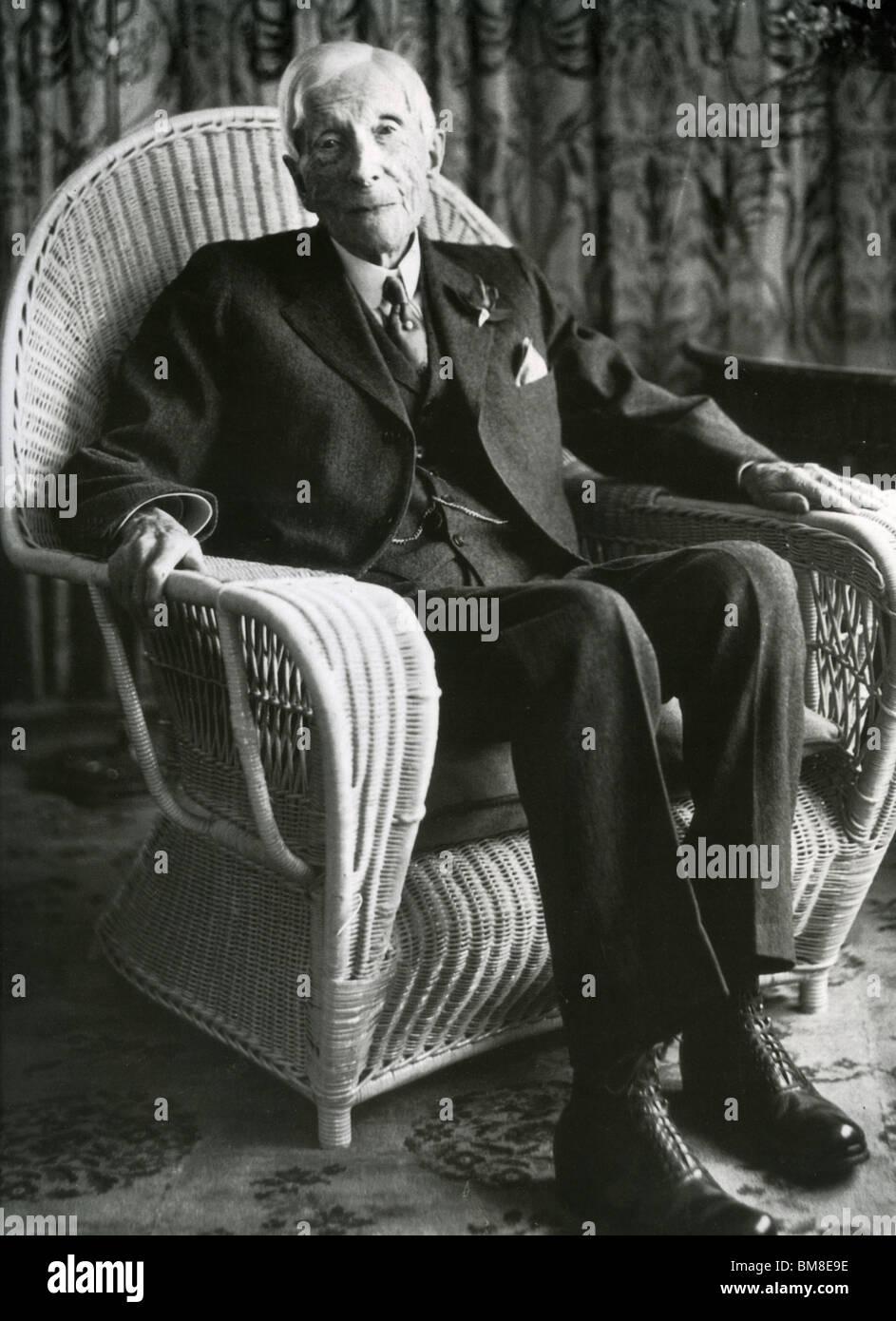 JOHN D(AVIDSON) ROCKEFELLER - US oil magnate and philanthropist (1839-1937) - Stock Image
