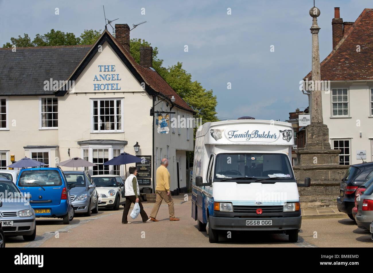 Market Square, Lavenham, Suffolk, UK. - Stock Image