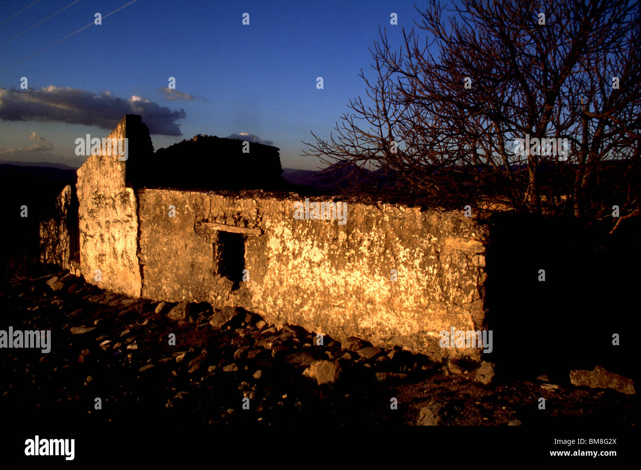 Ruins of an old home in Prado del Rey, Cadiz province, Andalucia, Spain, March 2005. Photo/Chico Sanchez Stock Photo