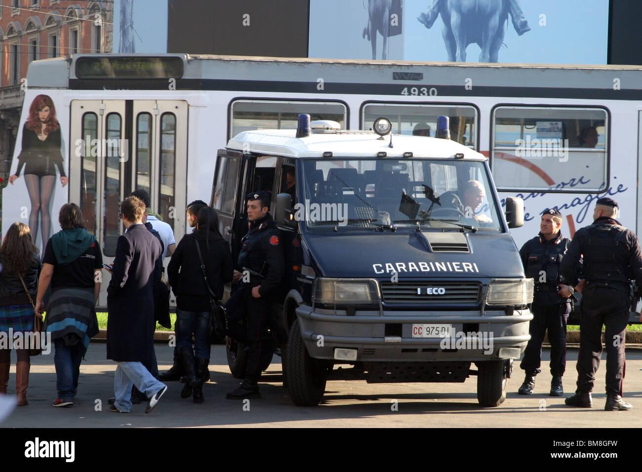 Italy, Milan, Italian police - Stock Image