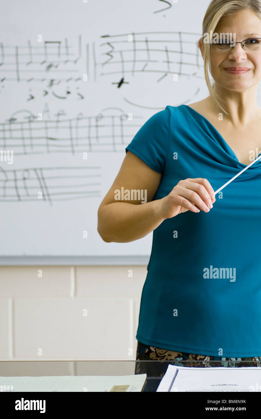 Music teacher - Stock Image