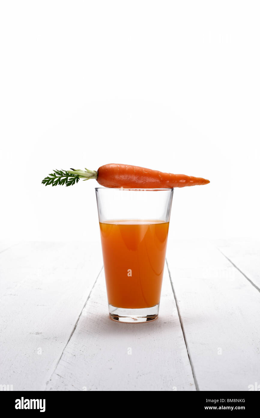 a glass of carrot juice Stock Photo