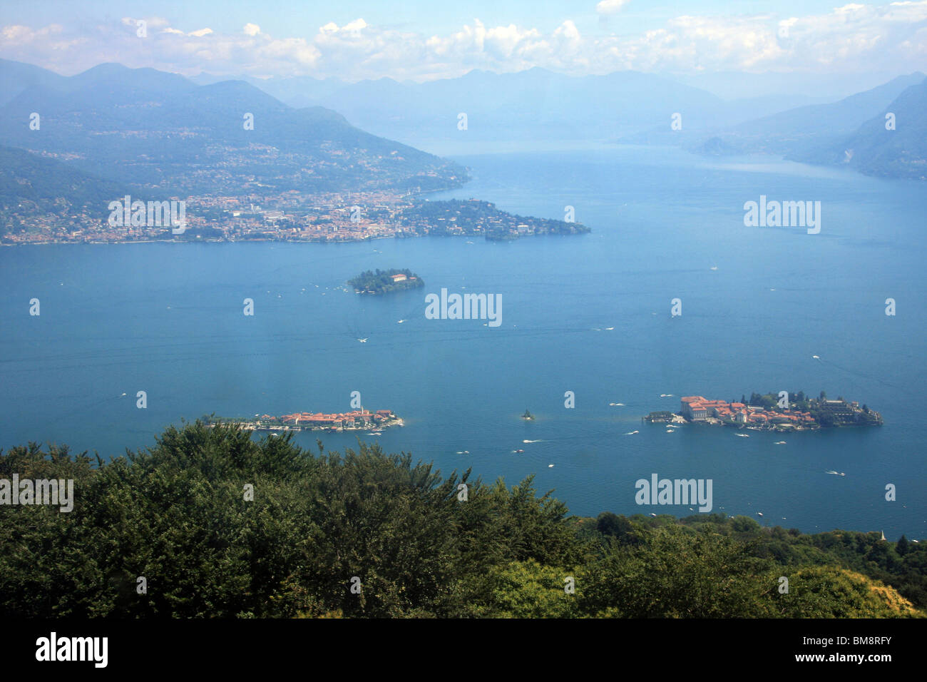 Italy, Lake Maggiore, View from Streza, - Stock Image