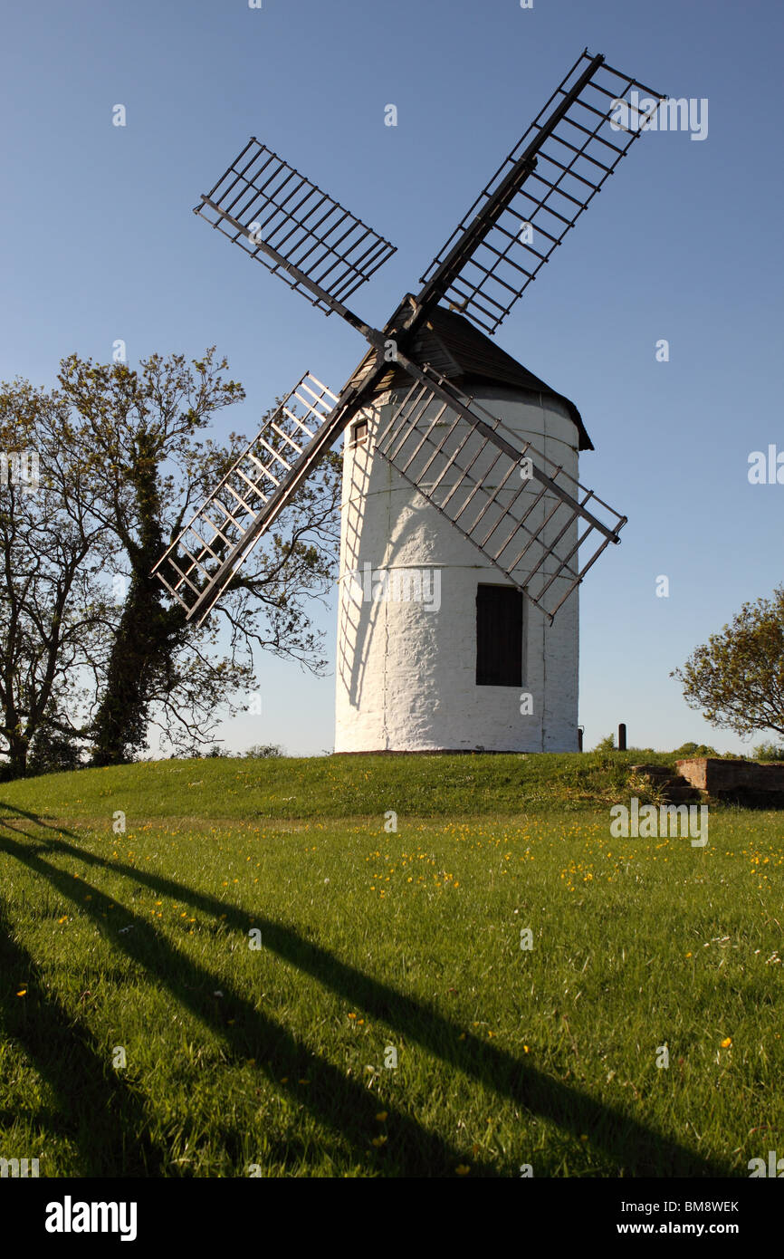 Ashton windmill at Chapel Allerton near Wedmore in Someret - Stock Image