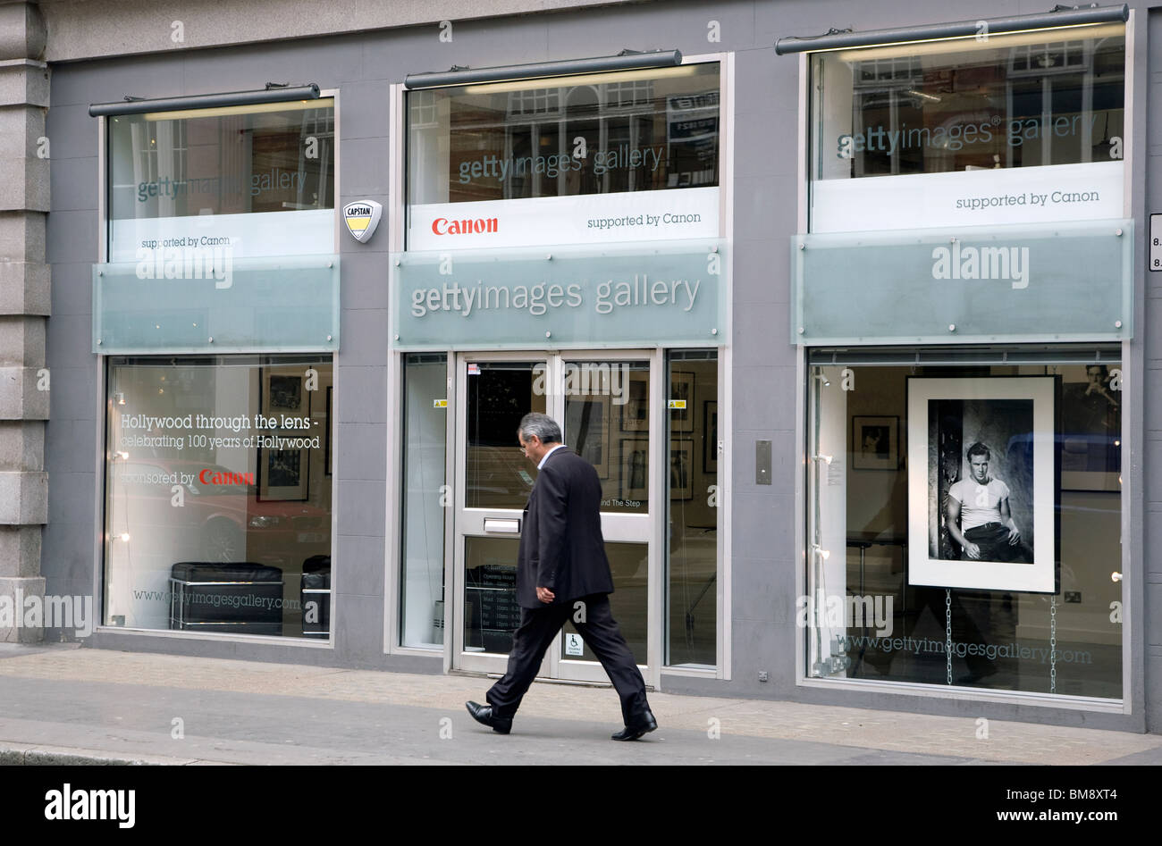 Getty Images Gallery in London's West End - Stock Image