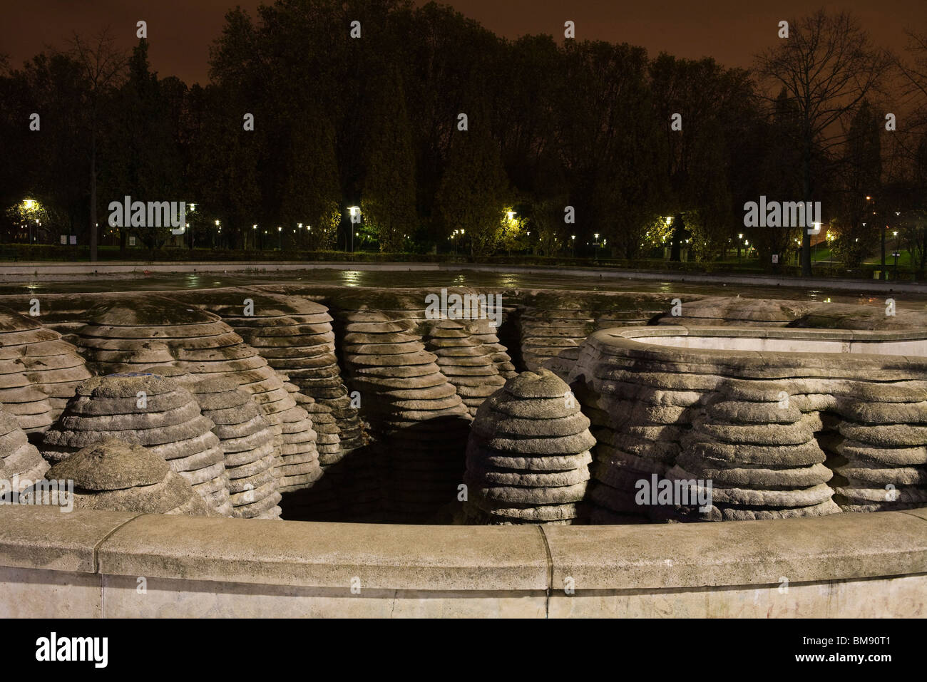 La Fontaine Canyoneaustrate, Parc de Bercy, Paris, France - Stock Image