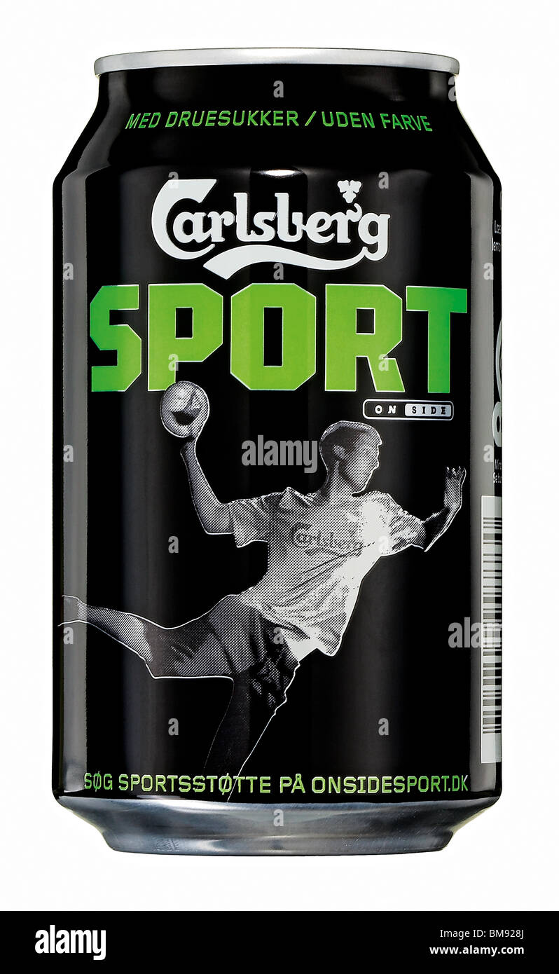 A can of Carlsberg sport beer - Stock Image