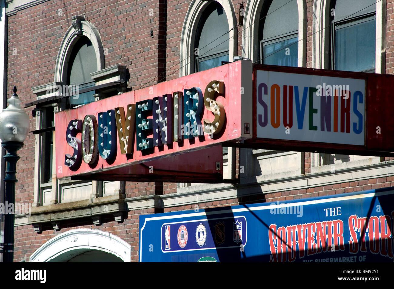 Awning of a Souvenir Shop. - Stock Image