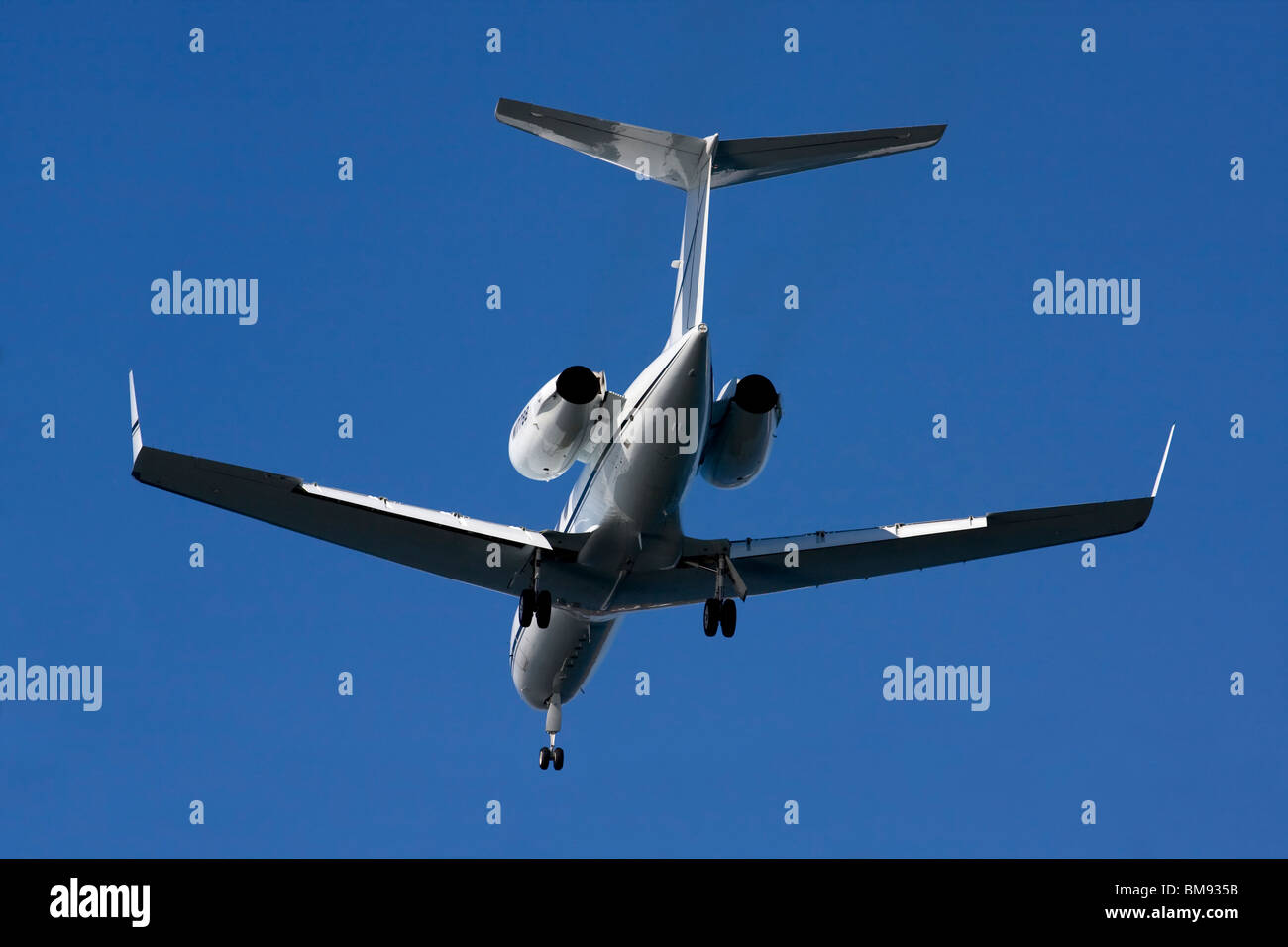 Gulfstream Aerospace G-IV with landing gear down. - Stock Image