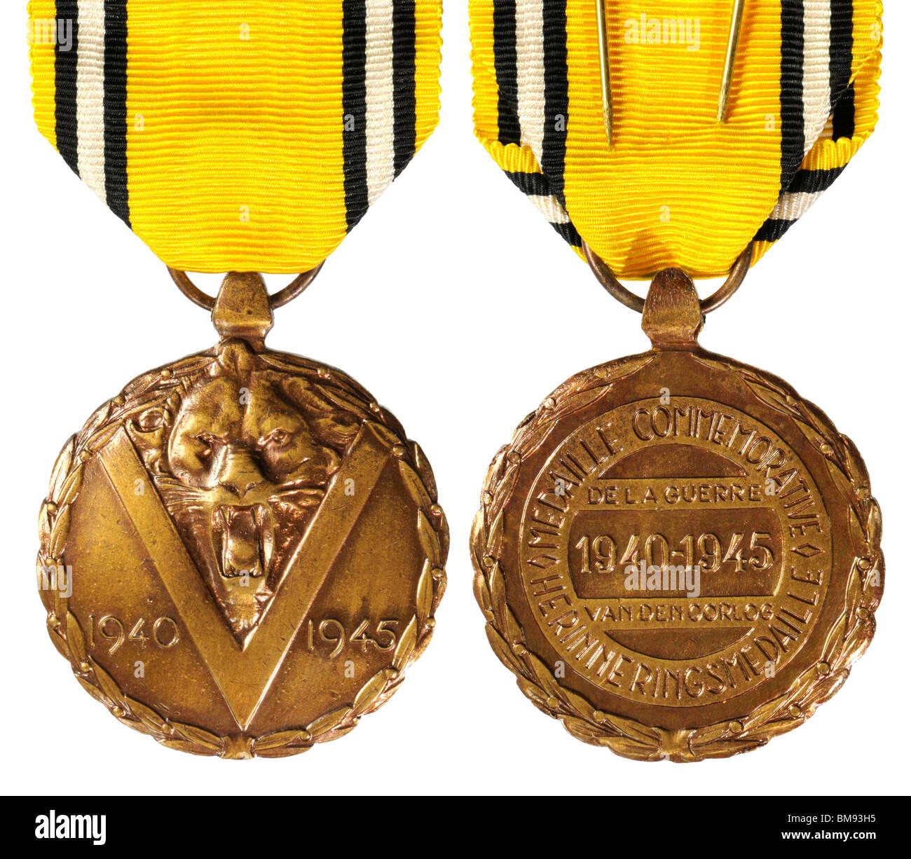 Belgian 1940-1945 WW2 commemorative medal. Medaille Commemorative de la  Guerre / Herinneringsmedaille van