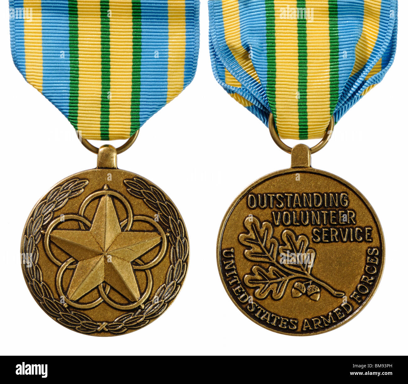 US Armed Forces Outstanding Volunteer Service Medal - Stock Image