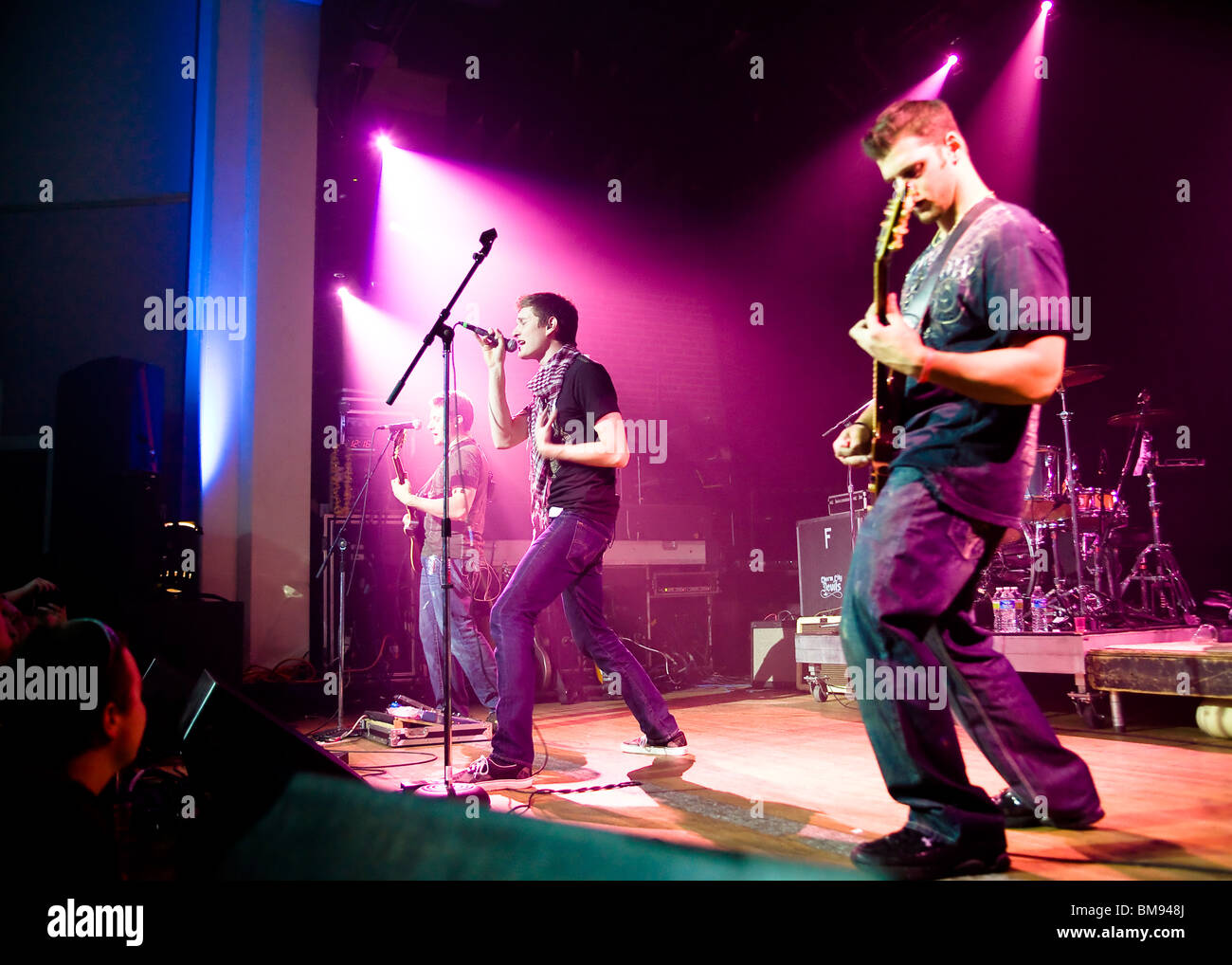 Rock band on stage - Stock Image