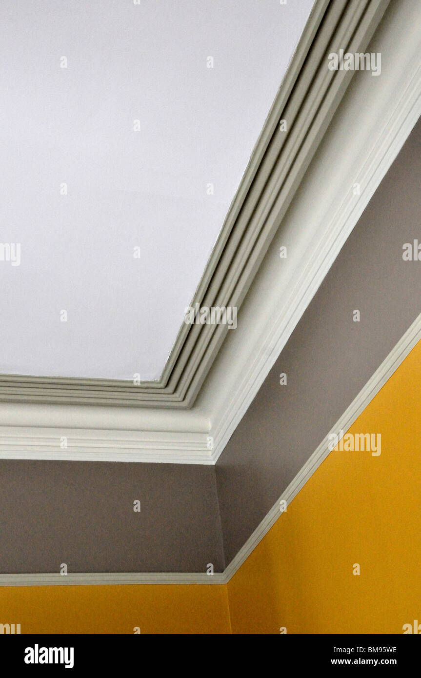 Crown molding in the living room of the historic Richardson house ...