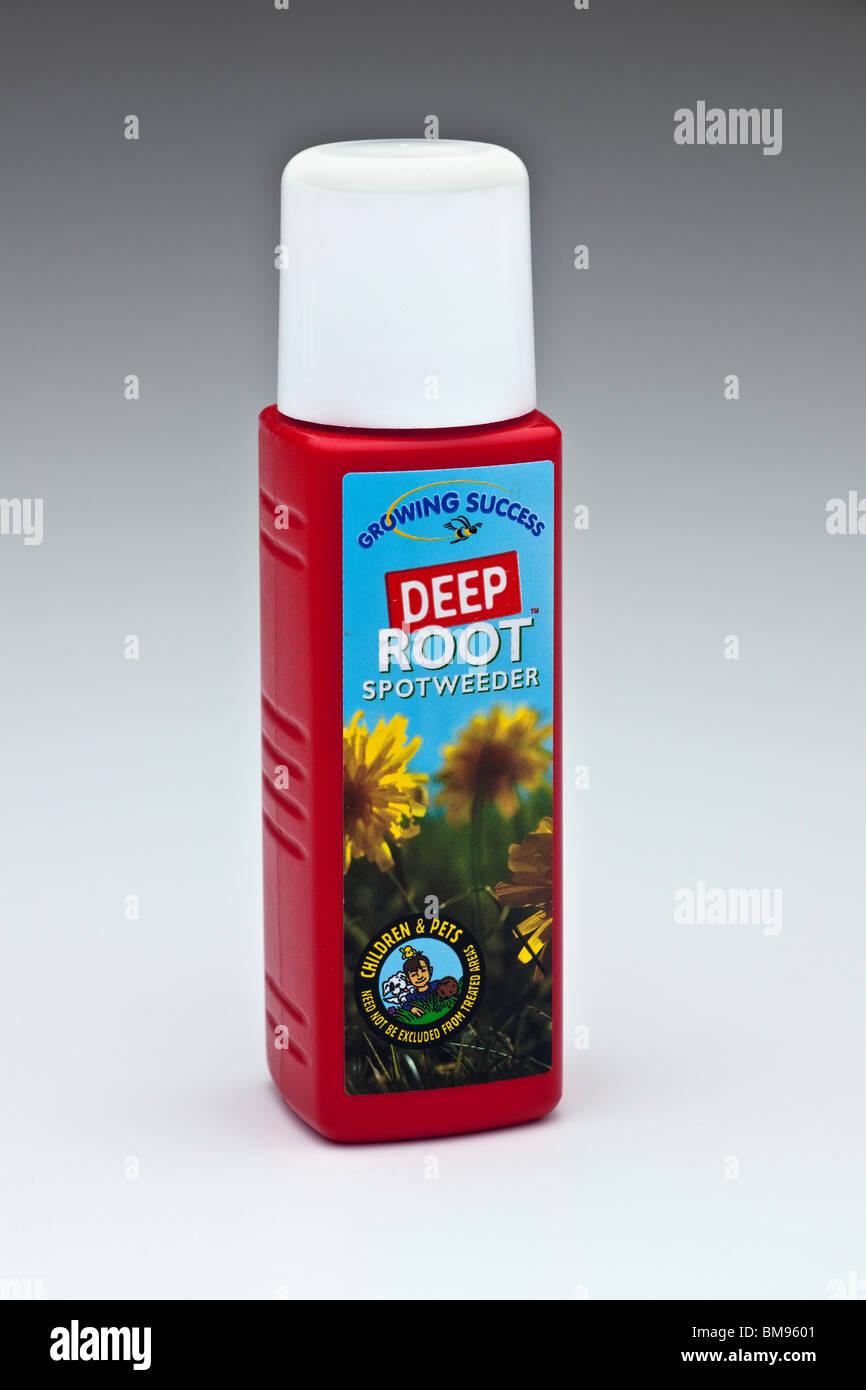 Container of Growing success deep root spotweeder - Stock Image