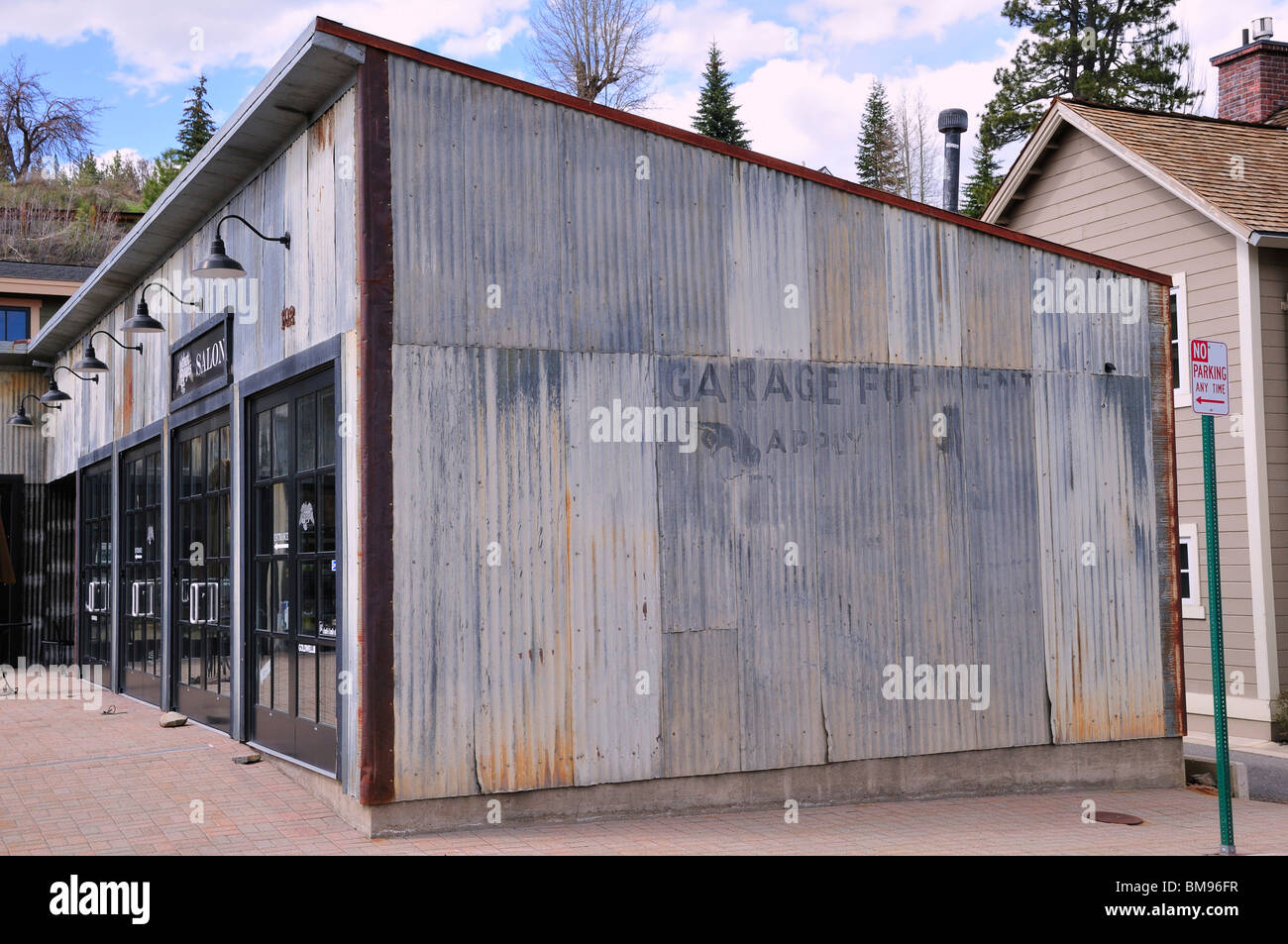 An Old Corrugated Metal Sided Building In Truckee Which