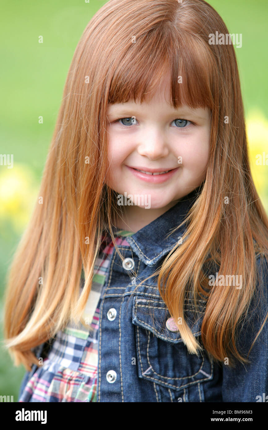Little Girl In A Jean Jacket - Stock Image