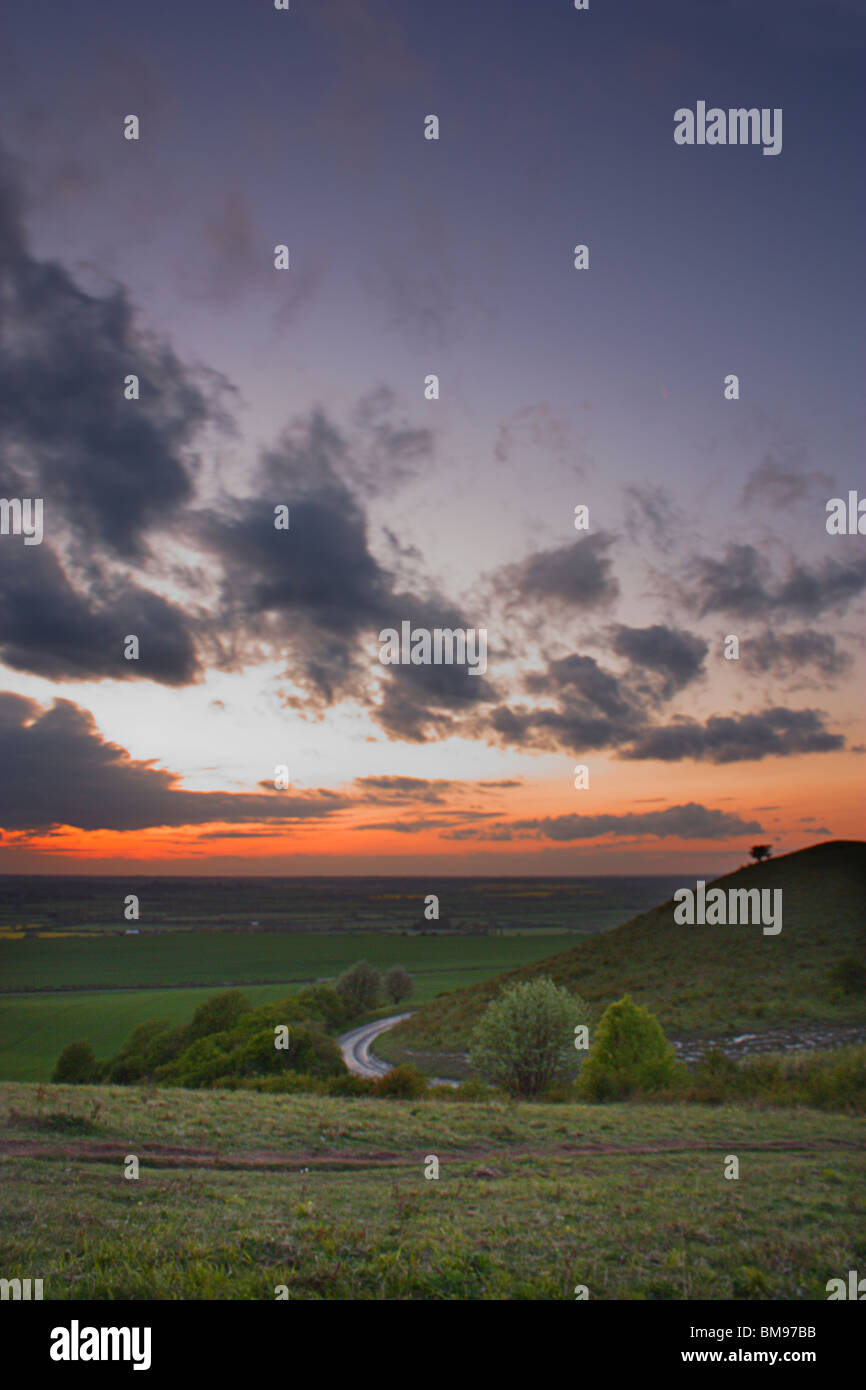Ivinghoe Beacon at Sunset - Stock Image
