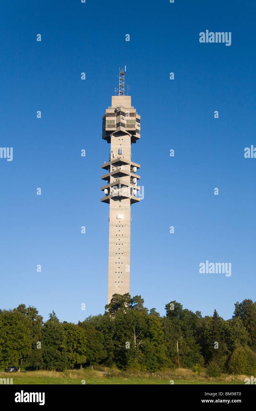 Kaknästornet tele Comunication tower Stockholm Sweden - Stock Image