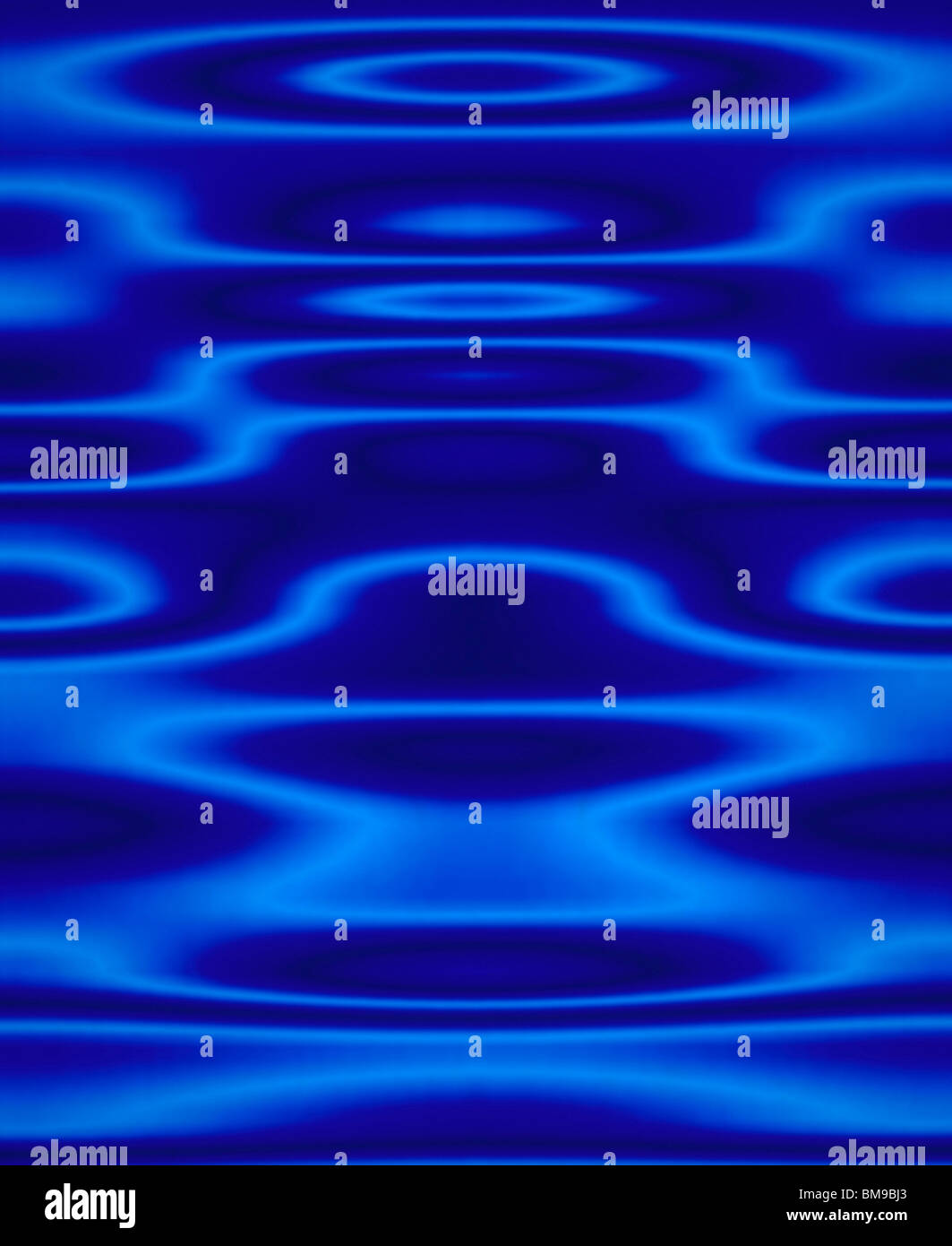 Blue Abstract Artistic Pattern - Stock Image